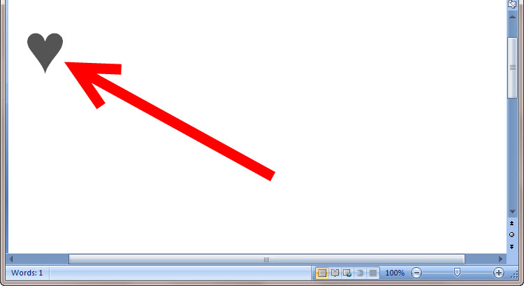 Cách để Gõ biểu tượng trái tim trong Windows