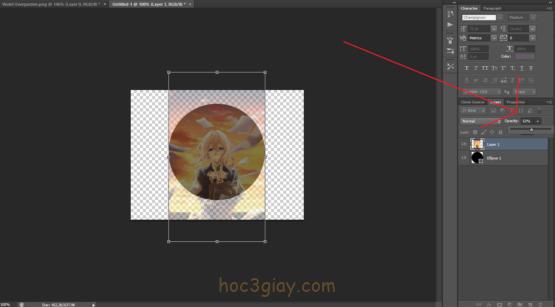 Hướng dẫn chèn hình ảnh vào hình dạng vừa vẽ trên Photoshop