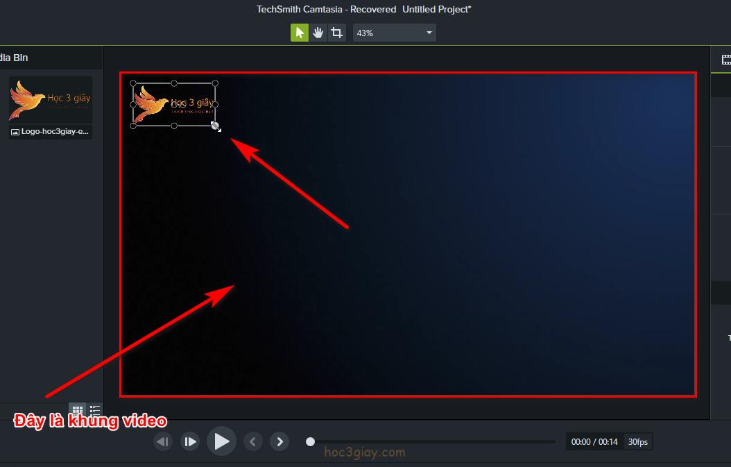 Hướng dẫn chèn logo vào video bằng camtasia