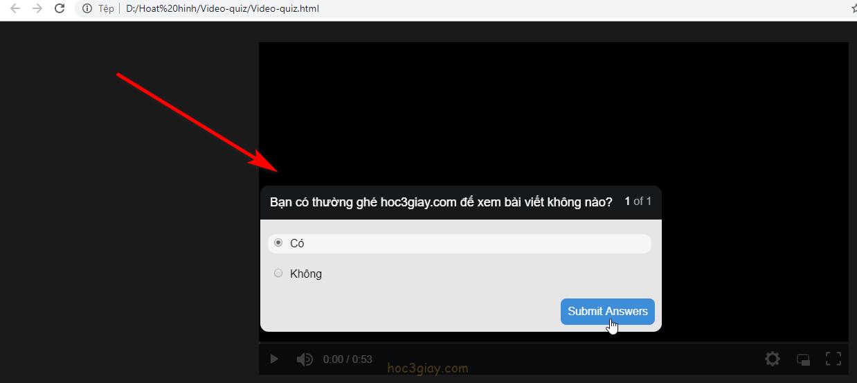 Hướng dẫn tạo câu đố trong video trên camtasia