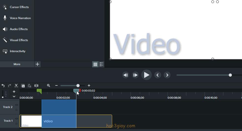 Hướng dẫn xóa phần thừa trên video nhanh trong camtasia