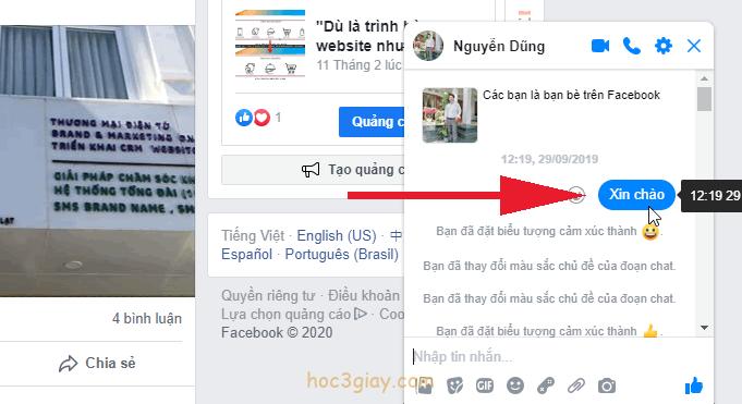 Hướng dẫn thay đổi màu sắc đoạn chat trên facebook