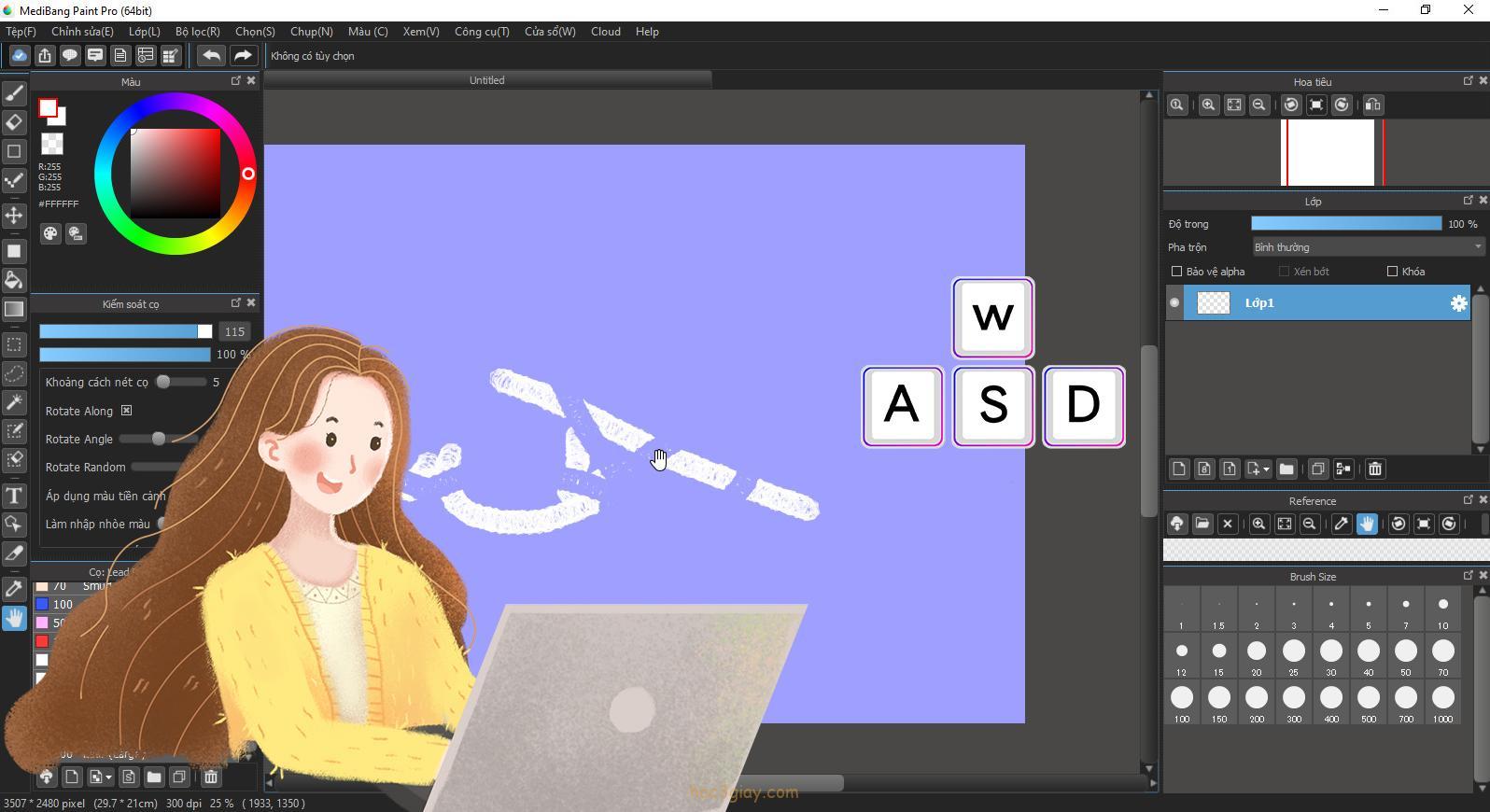 Bảng phím tắt thông dụng nhất trong MediBang Paint Pro nên biết