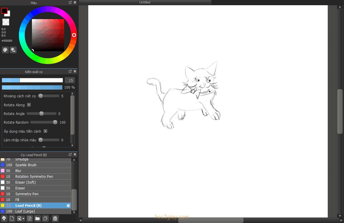 Hướng dẫn vẽ mèo dể thương