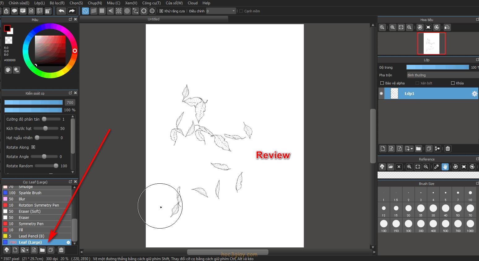 Cách thêm cọ vẽ mới trong MediBang Paint Pro