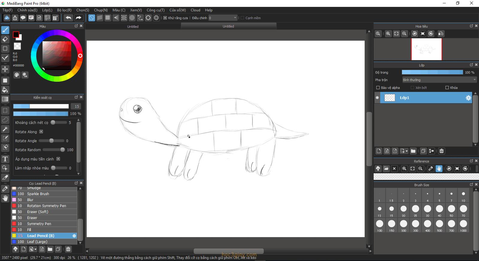 Hướng dẫn vẽ rùa