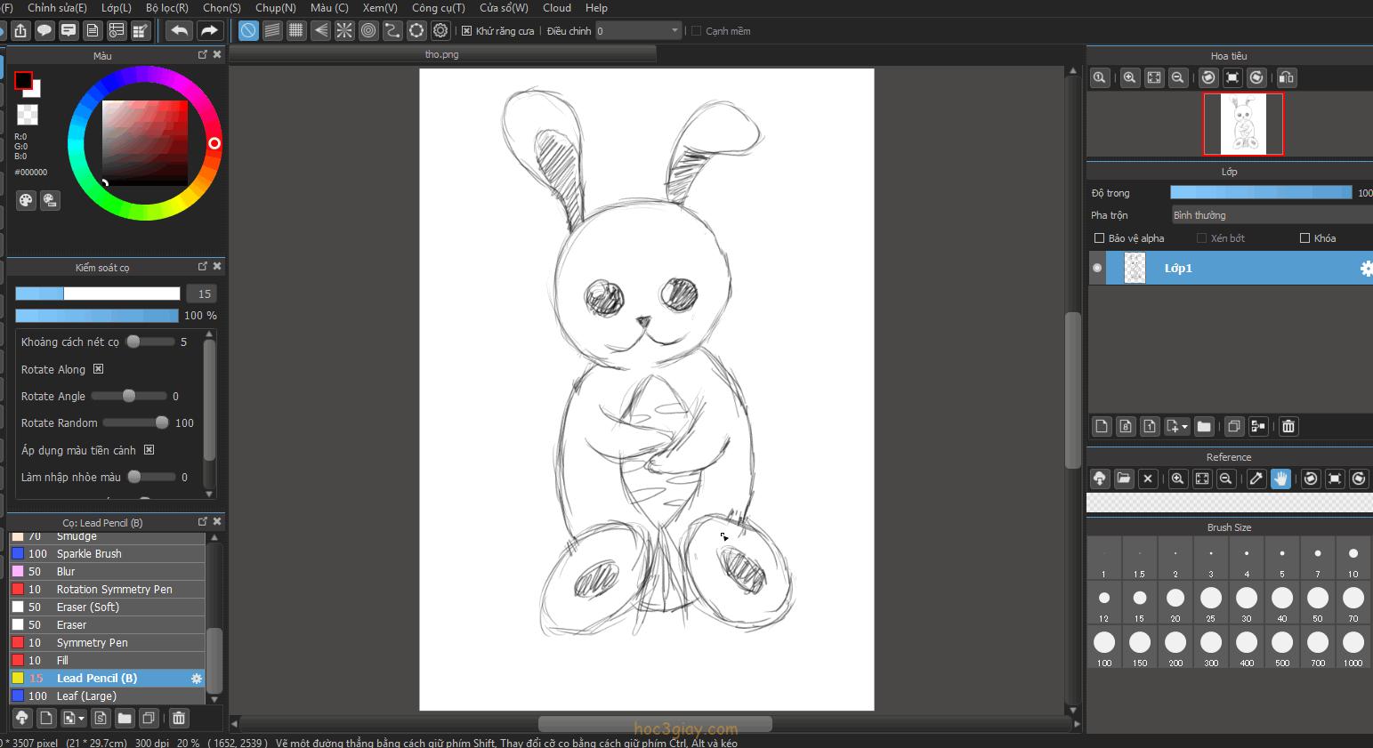 Hướng dẫn vẽ thỏ dể thương đơn giản