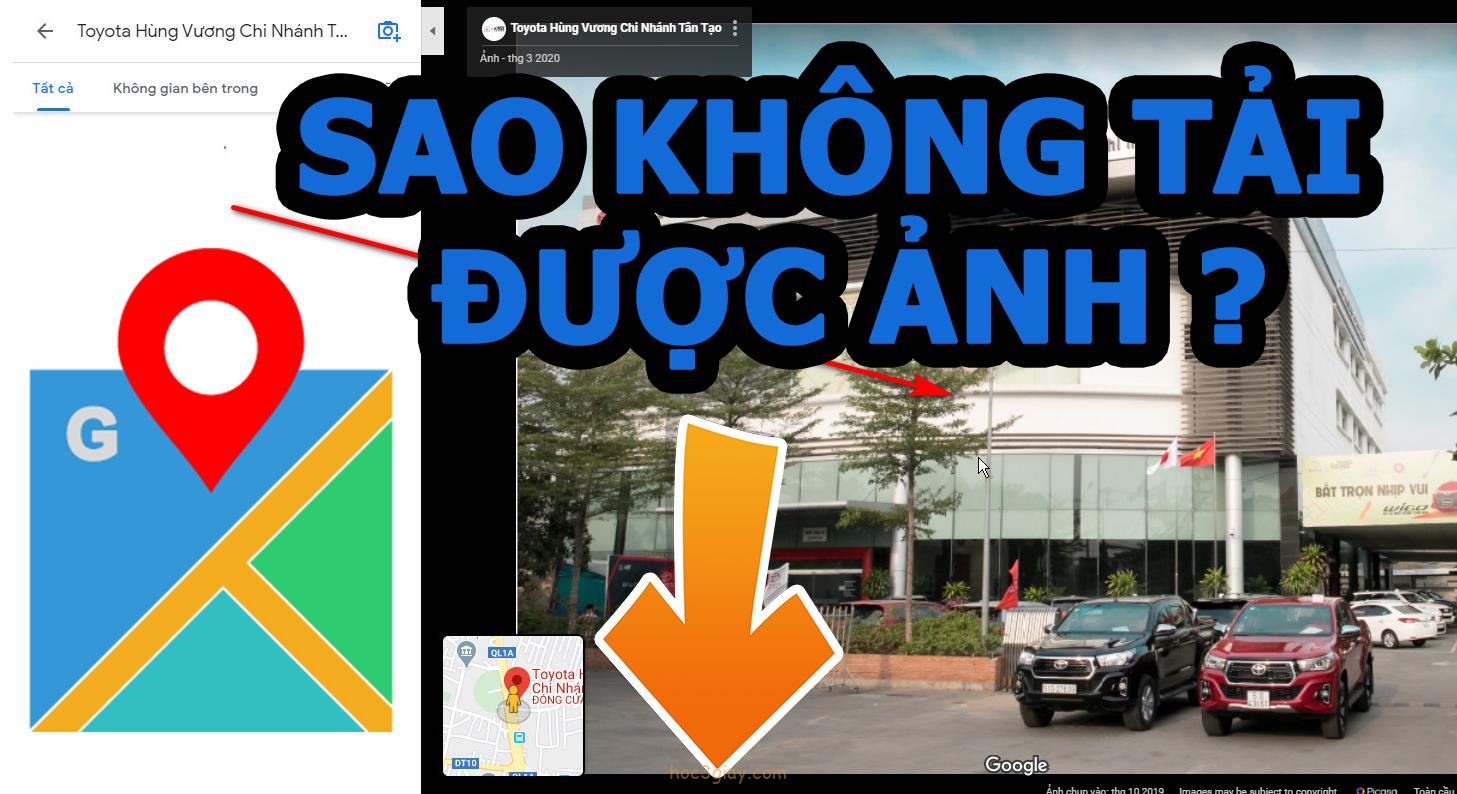 Làm thế nào để tải một bức ảnh trên google map xuống?