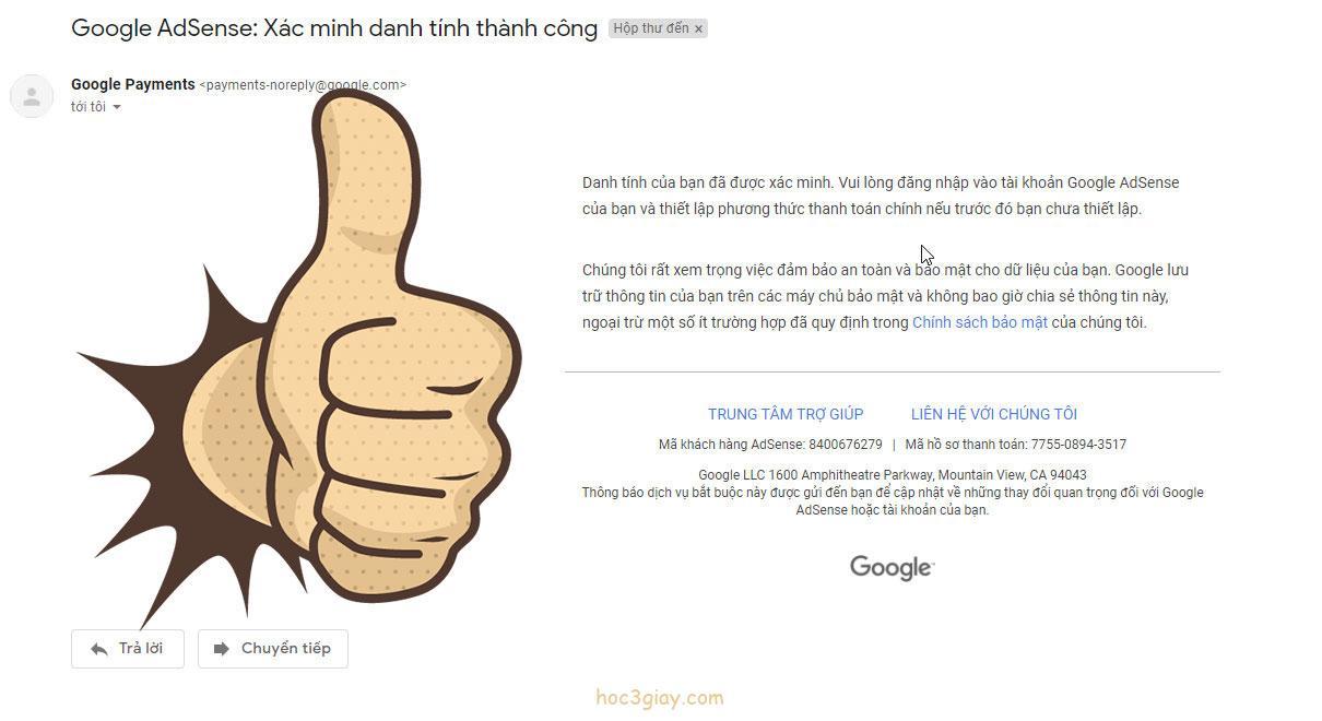 Hướng dẫn xác minh danh tính Google Adsense